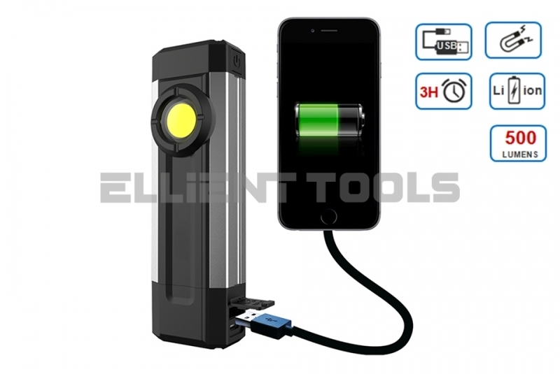 Rechargeable Mini 6W Aluminium Pocket Light